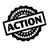 Action rubber stamp Royalty Free Stock Photos