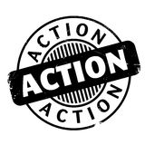Action rubber stamp Stock Images