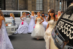 Action Runaway Bride Cosmopolitan 2012 Stock Photography