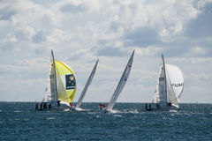 Action at Sea - World Match Racing Tour Stock Image