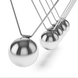 Action sequrence concept background - Newton's cradle executive Stock Photos