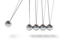 Action sequrence concept background - Newton's cradle executive Stock Photography