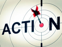 Action Shows Active Motivation Or Proactive Royalty Free Stock Photo
