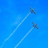Action in the sky during an airshow Royalty Free Stock Photos