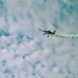 Action in the sky during an airshow Stock Photography