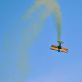 Action in the sky during an airshow Stock Images