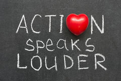Action speaks Royalty Free Stock Images