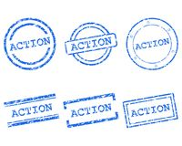 Action stamps Stock Images