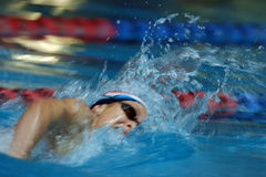 Action swimmer 02. A freestyle swimmer in action Stock Images
