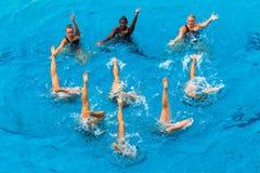 Action synchronisée de danse de femmes Photographie stock libre de droits