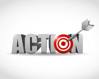Action target illustration design Stock Photos