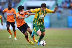 Action in Thaileague 2013 Royalty Free Stock Photography