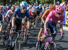 Action from the Tour Down Under from Adelaide in South Australia. royalty free stock photography