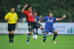 Action in Toyota league cup 2011 Royalty Free Stock Photo