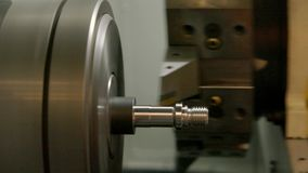 Action of turning lathe. stock video