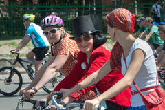 Action within the Ukrainian Bicycle Day in Kharkiv Ukraine Royalty Free Stock Photos