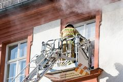 Action week of the Bavarian fire brigades 2018 Royalty Free Stock Image