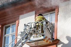 Action week of the Bavarian fire brigades 2018 Stock Photography