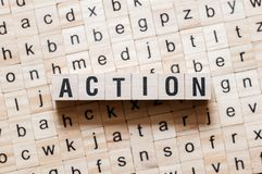 Action word concept stock photography