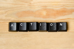 Action word. With keyboard buttons Royalty Free Stock Photos