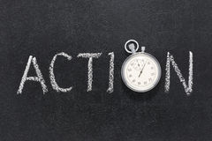 Action word watch Stock Photo