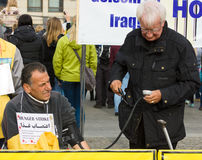 The action (hunger strike) Iranian dissidents Stock Photography