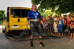 Actionnez le ` 2016 carpathien d'ours de ` de tournoi dans Uzhgorod image stock