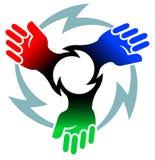 Actionnez le logo illustration de vecteur