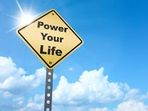 Actionnez votre signe de la vie illustration libre de droits