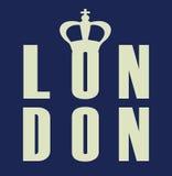 Actions d'illustration d'affiche de couronne de Londres de carte de vintage Image stock