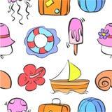 Actions de collection de thème d'été de bagout Images stock