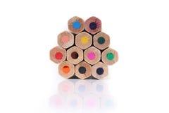 Actions de crayons colorés photographie stock libre de droits