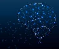 Actions du cerveau, polygone, 3s étoiles bleues 3 photographie stock libre de droits