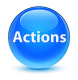 Actions glassy cyan blue round button Royalty Free Stock Photography