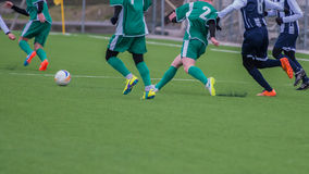 Actions in soccer field Royalty Free Stock Photography