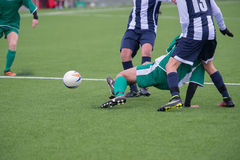 Actions in soccer field Stock Photography