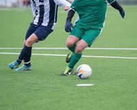 Actions in soccer field Royalty Free Stock Images
