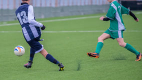 Actions in soccer field Stock Photo