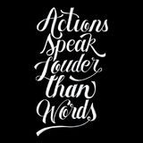 Actions speak louder than words illustration Royalty Free Stock Images