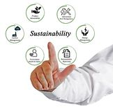Sustainability. Actions which contribute to sustainability Royalty Free Stock Photo