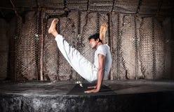 Actitud anticipada de la yoga Foto de archivo libre de regalías