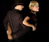 Actitud atractiva del tango imágenes de archivo libres de regalías