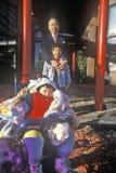 Actitud china de la familia por el Año Nuevo chino en Chinatown, Washington, DC Imagen de archivo