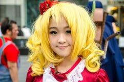 Actitud cosplay del animado japonés no identificado en Japón Festa en Bangkok 2013 Fotos de archivo