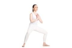 Actitud de la diosa de la yoga (Utkata Konasana) Fotos de archivo