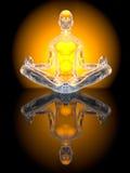Actitud de la meditación de la yoga Foto de archivo