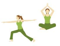 Actitud de la yoga Fotos de archivo libres de regalías