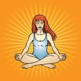 Actitud de la yoga Foto de archivo libre de regalías