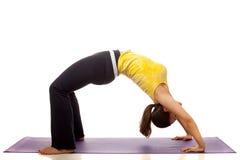Actitud de la yoga Fotografía de archivo