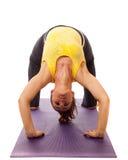 Actitud de la yoga Fotografía de archivo libre de regalías